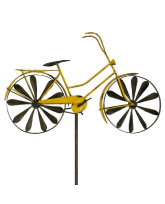 Windspiel Fahrrad Metallwindrad Bicylce Gelb Gartedeko Windrad Metall
