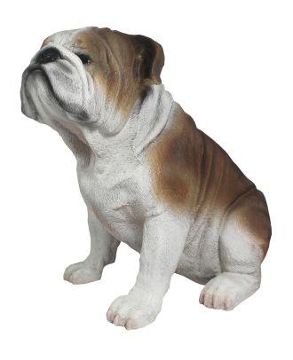 """Dekofigur Hund englische Bulldogge """"Winston"""" Tierfigur Skulptur Haushund"""