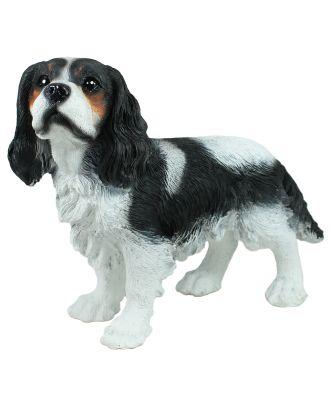 Dekofigur Hund Cavalier King Charles Gartendeko Tierdeko Prinz Charles Hund