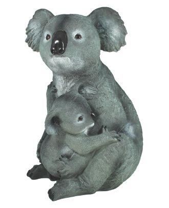 Dekofigur Koalabär mit Koala Baby Gartenfigur Tierdeko Koalafamilie Dekorationsfigur