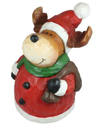 """Dekofigur Elch """"Bernd"""" Weihnachtsdeko Weihnachtsmann Gartenfigur Tierdeko"""