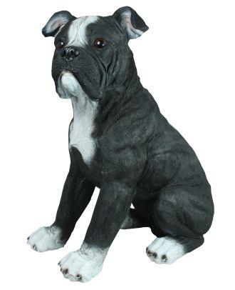 Dekofigur Amerikanische Bulldogge Rusty Dekoration Tierfigur Garten Hauptbild
