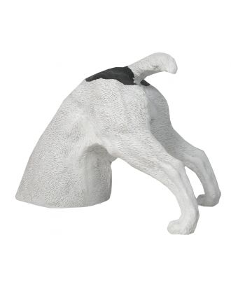 Dekofigur Hund Halber Hund grabend, Jack Russel Terrier Garten Hundefigur