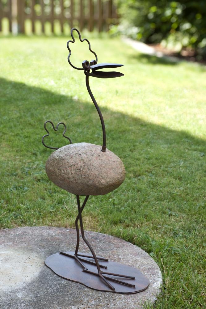 D co pierre oiseau b rbel d coration de jardin figurine for Oiseau decoration jardin