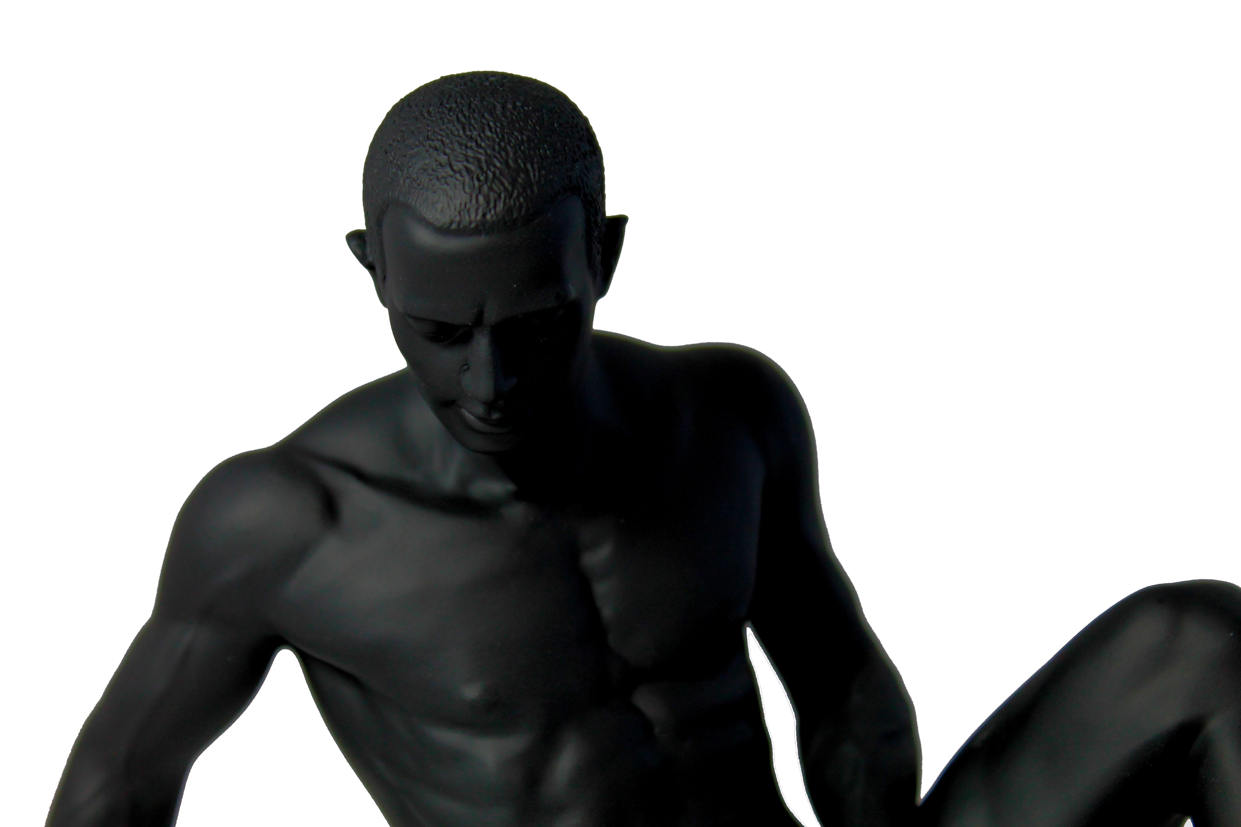 Dekofigur akt figur nackter mann sitzend collection for Dekoration wohnung mann
