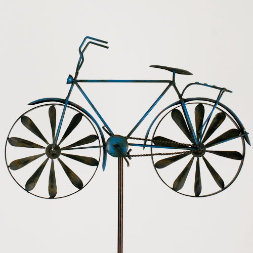 windspiel fahrrad metallwindrad bicylce blue garten deko windrad neu ebay. Black Bedroom Furniture Sets. Home Design Ideas
