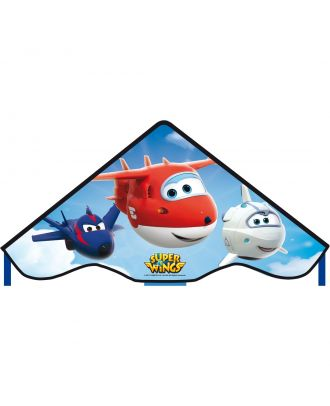 Kinderdrachen Einleiner SUPER WINGS Simple Flyer 85 cm Flugzeug HQ Drachen