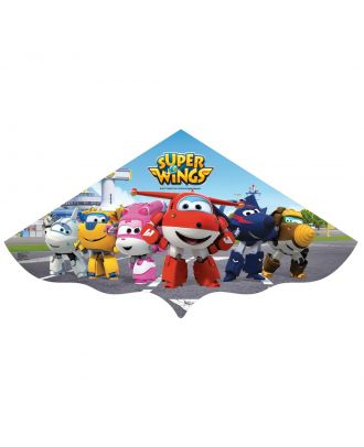 Kinderdrachen Einleiner SUPER WINGS Simple Flyer PE 120 cm Flugzeug HQ Drachen