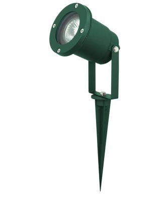 103101 Außenstrahler Spot Aluminiumgehäuse mit Erdespieß grün Strahler Halogen / LED Gebäudestrahler