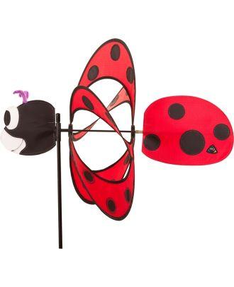 Windrad Windspiel HQ Paradise Critter Ladybug mit Bodenanker Gartendeko Propeller