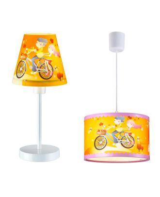 Deckenleuchte plus Tischleuchte FREUNDE Kinderzimmerlampe Kinderleuchte Kinderlampe