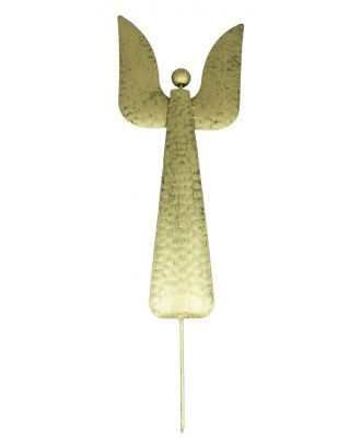 Gartenstecker Engel aus Metall Dekofigur Höhe 64 cm Farbe Gold Metallfigur Beetstecker Metall-Engel Weihnachtsengel