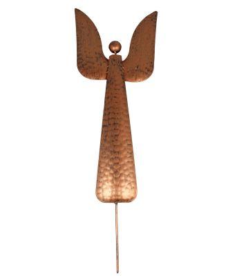 Gartenstecker Engel aus Metall Dekofigur Höhe 64 cm Farbe Kupfer Metallfigur Beetstecker Metall-Engel Weihnachtsdeko