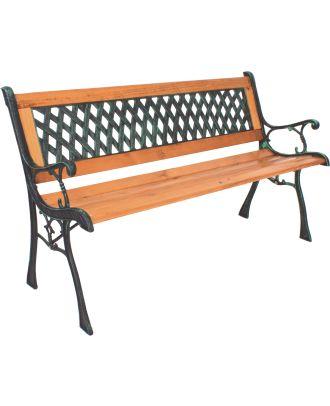 Gartenbank Sitzbank WINDSOR 2-Sitzer Holz Stahl PVC