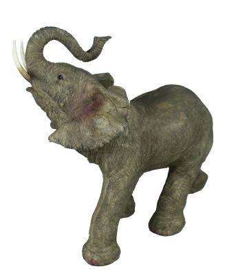 Elefant Figur Gartenfigur stehender Elefant lebensecht Elefantenfigur Tierfigur Dekofigur