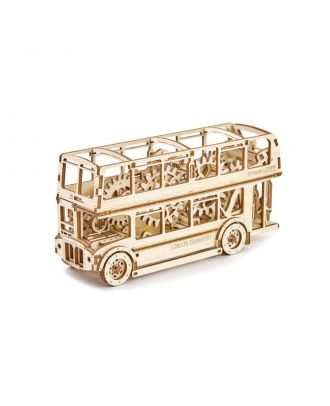 Woodencity London Bus Holzmodell Bausatz Dekoration