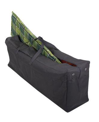 Schutzhülle für 4 Gartenmöbelauflagen Aufbewahrungstasche für Auflagen robustes 420D Polyester anthrazit