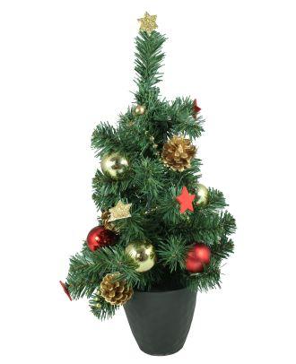 Tannenbaum Weihnachtsbaum im Topf mit 10 LEDs warm-weiss 40 cm Weihnachtsdeko für innen