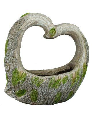 Pflanzkübel Pflanztopf Herzform Pflanzgefäß aus Keramik Herzfigur für Garten und Haus