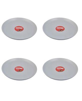 Jamie Oliver Speiseteller 4 Stück Teller Speckle hellgrau 34 cm Essteller Dinner Plates