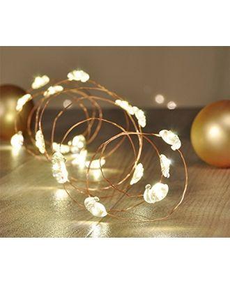 LED-Lichterkette Weihnachtsmann 5er Set à 20 Leuchten warmweiß Tisch Weihnachtsdeko Innenraum Weihnachtsbeleuchtung