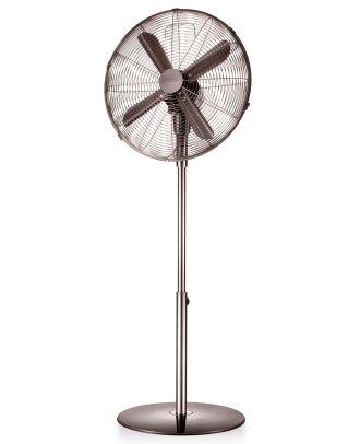 Standventilator Stand Ventilator Retro 44 cm Edelstahl Anthrazit Windmaschine Venti schwenkbar