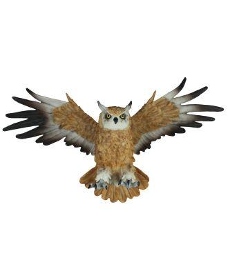 Dekofigur Wanddeko Eule fliegend Uhu Greifvogel Gartenfigur Tierfigur Wohnung Vogeldeko