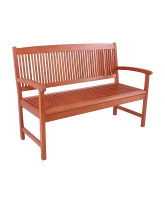 Gartenbank Holzbank STOCKHOLM 2-Sitzer Länge 127 cm Sitzbank Eukalyptus FSC 100%
