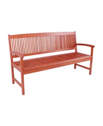 Gartenbank Holzbank STOCKHOLM 3-Sitzer Länge 157 cm Sitzbank Eukalyptus FSC 100%