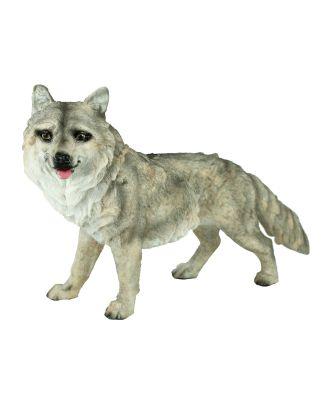 Wolf Tierfigur Wolf-Figur 36 cm Wolf-Deko Wolfswelpe Gartendeko Dekofigur