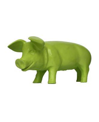 "Dekofigur Schwein Ferkel ""Apple"" green grün 60 cm Dekoration Deko Garten"