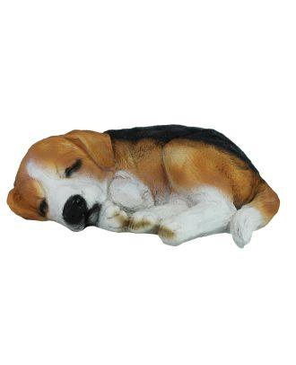 Dekofigur Hund Beagle Gibbs schlafend Tierfigur Hundefigur Haushund