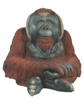 """Dekofigur Orang Utan """"Gregor"""" Affe Menschenaffe Primaten Gartenfigur Tierdeko"""